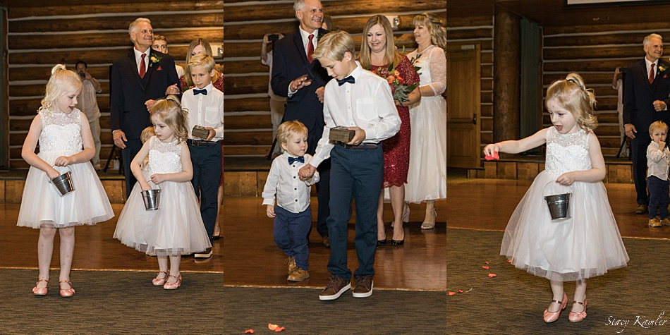 Flower girl and Ring Bearer walking down the isle