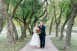 Bride and Groom and photos at golf course in Lincoln, NE