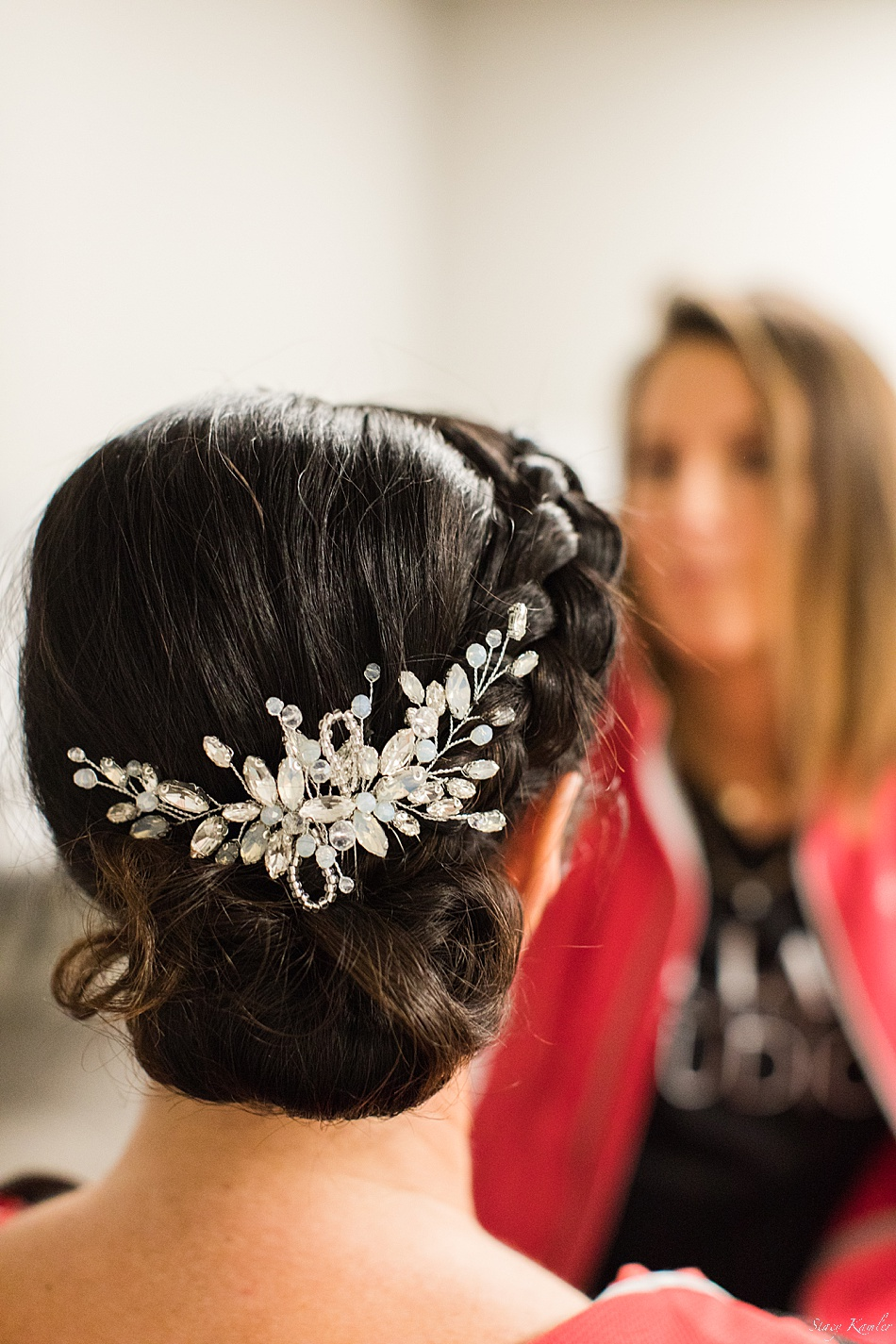 hair detail for wedding