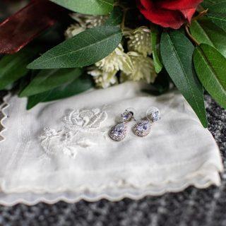 Earrings and handkerchief
