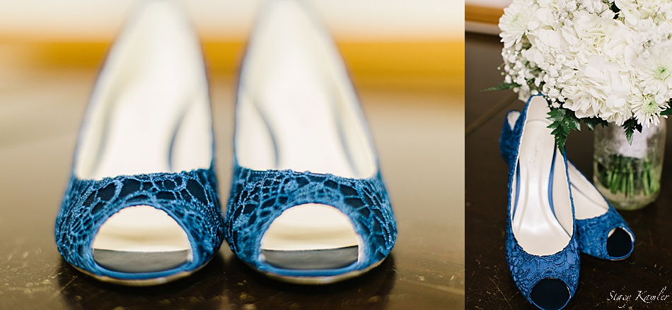 Bride's Blue Shoes