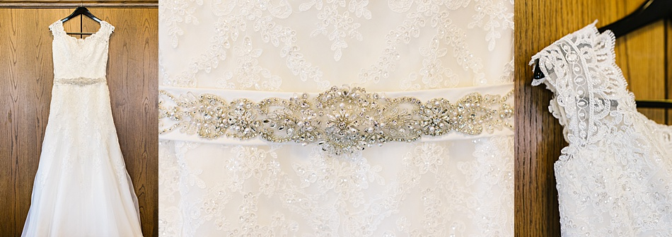 Bride's Lace Dress with beaded belt