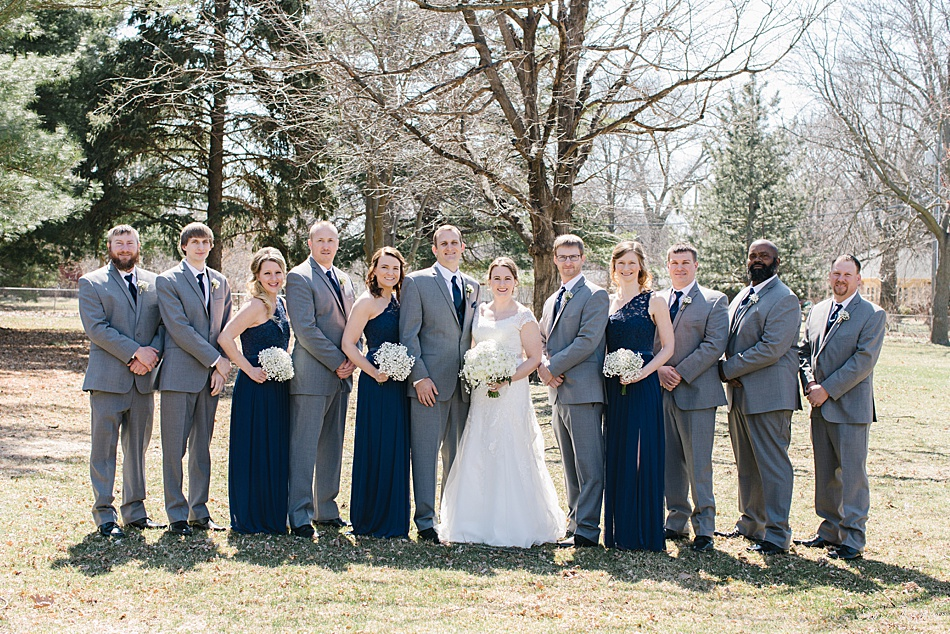 Bridal Party outside in Seward, NE