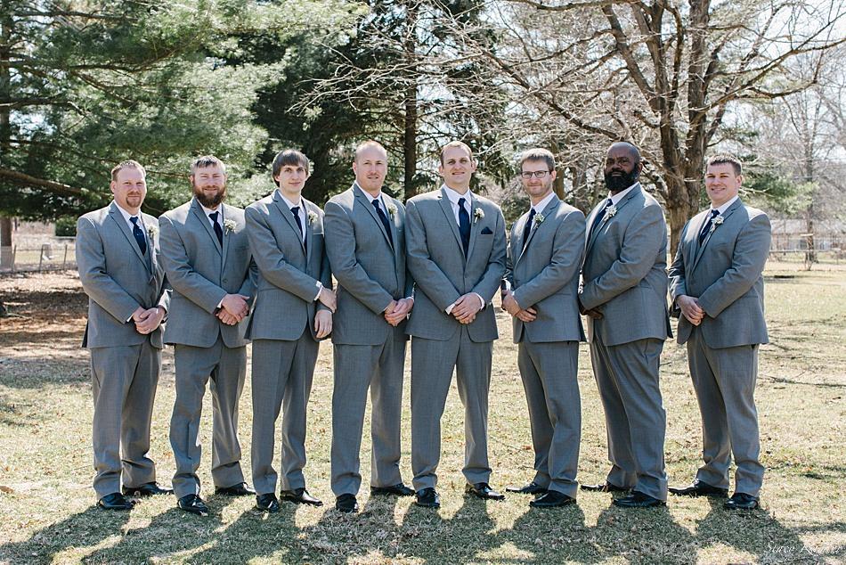 Groomsmen for a wedding in Seward, NE