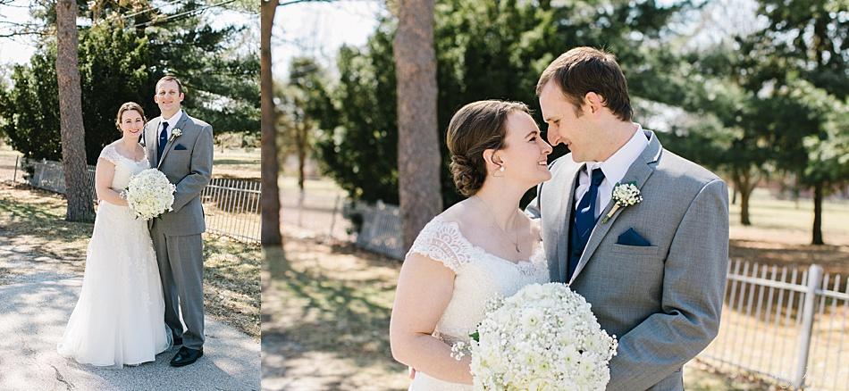 Bride and Groom Photos outside, Seward, NE