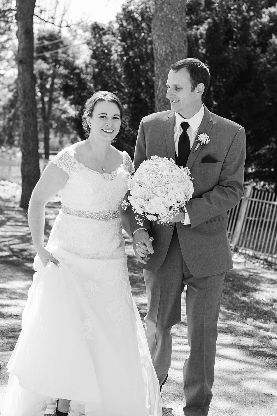 A groom gazing at his bride