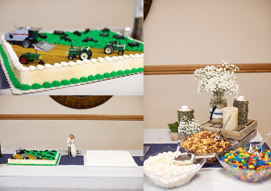 Reception Cake and snacks