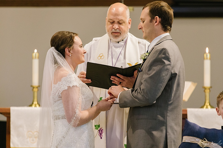 Exchanging Rings at ceremony