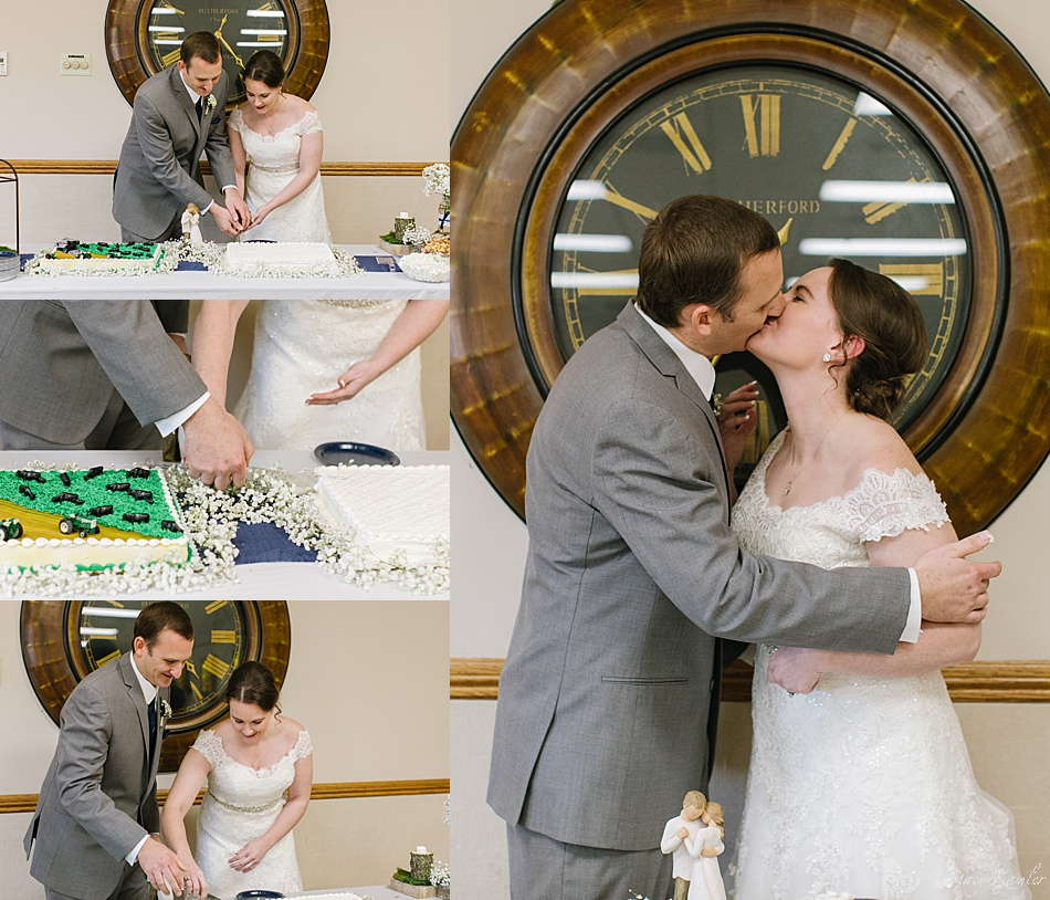 Cake Cutting as the Mr. and Mrs.